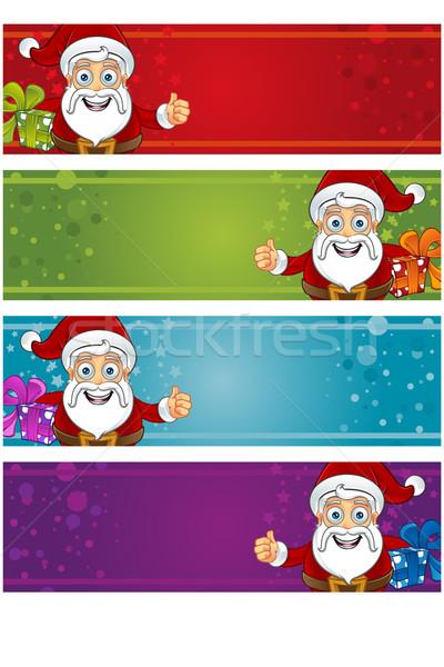 4 Christmas Banners - Santa Stock photo © DesignWolf
