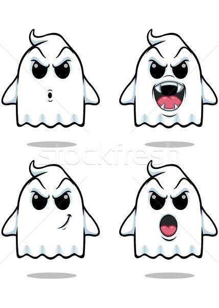 Ondeugend spook ingesteld illustratie cute naar Stockfoto © DesignWolf