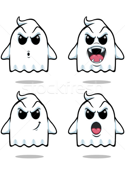 Méchant fantôme illustration cute regarder Photo stock © DesignWolf