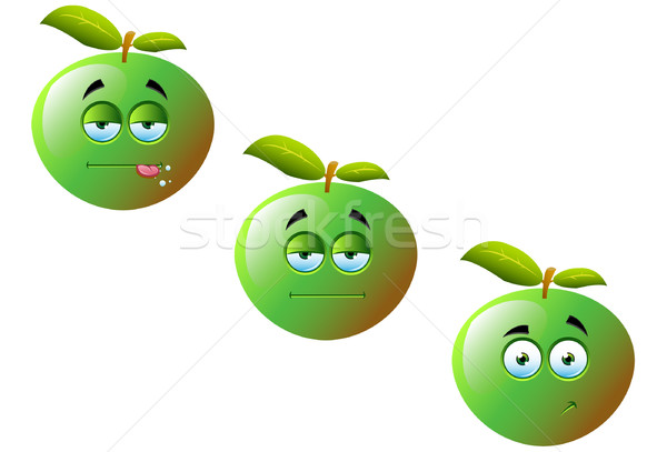 Cartoon pommes cute drôle fruits Photo stock © DesignWolf