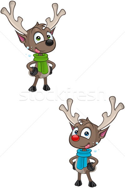 Karikatür ren geyiği karakter örnek sevimli geyik Stok fotoğraf © DesignWolf