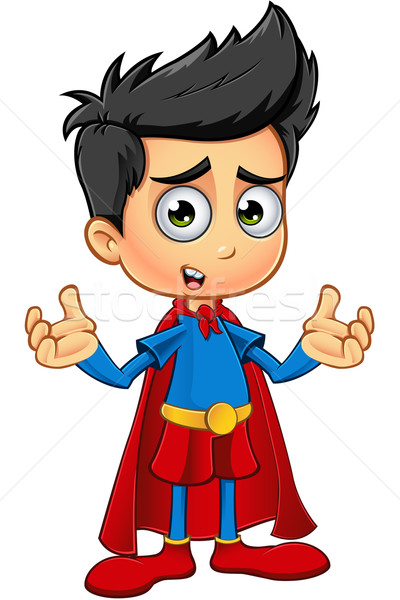 Super garçon personnage cartoon illustration cute Photo stock © DesignWolf