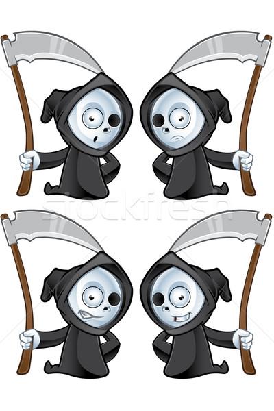 Cute grimmig karakter weinig illustratie verschillend Stockfoto © DesignWolf