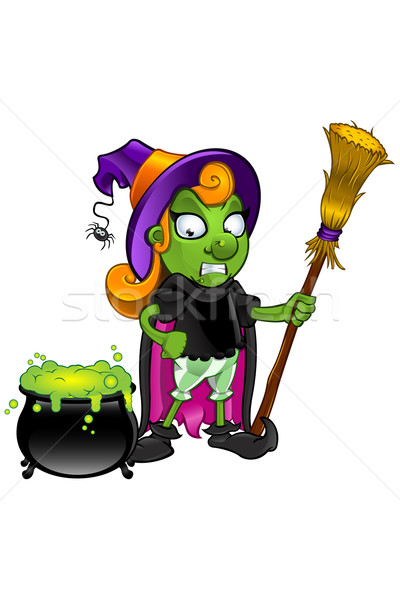 Cartoon Witch Character Stock photo © DesignWolf