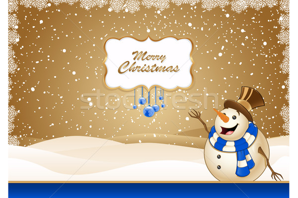 Christmas Scene With Snowman Stock photo © DesignWolf