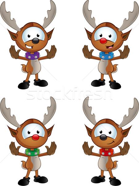 Reindeer Character - Gesturing To Halt Stock photo © DesignWolf