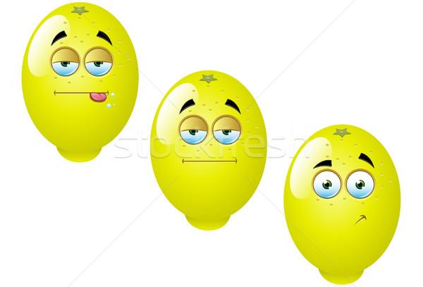 Cartoon citron fruits amusement vecteur Photo stock © DesignWolf