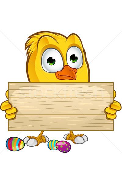 Paskalya civciv karakter karikatür örnek yumurta Stok fotoğraf © DesignWolf