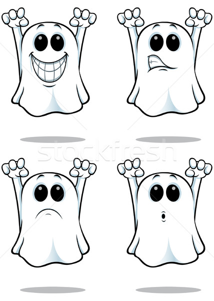 Karikatür hayaletler ayarlamak hayalet örnek farklı Stok fotoğraf © DesignWolf