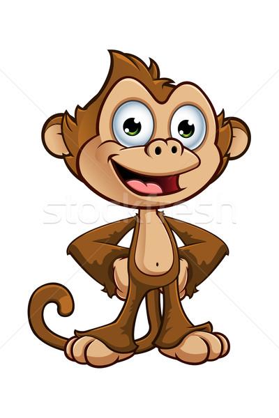 Singe personnage cartoon illustration Safari cute Photo stock © DesignWolf