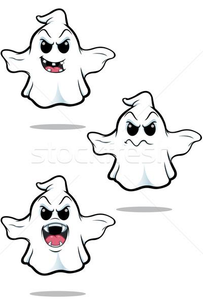Cartoon fantôme illustration regarder différent Photo stock © DesignWolf