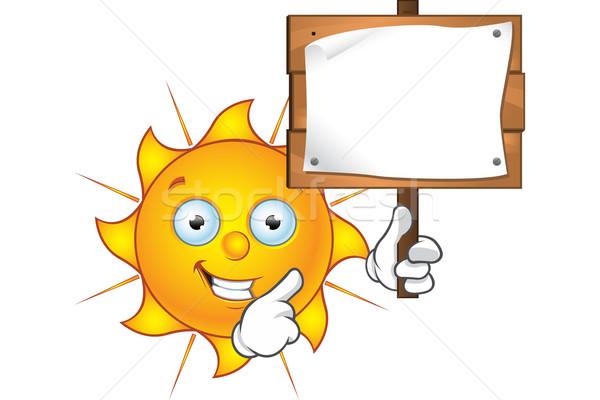 Soleil personnage signe cartoon illustration Photo stock © DesignWolf