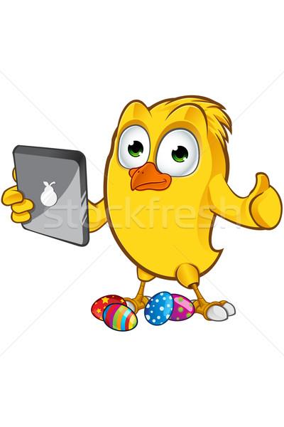 Pasqua chick carattere cartoon illustrazione uovo Foto d'archivio © DesignWolf