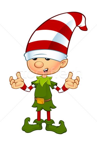 Aranyos manó karakter rajz illusztráció karácsony Stock fotó © DesignWolf