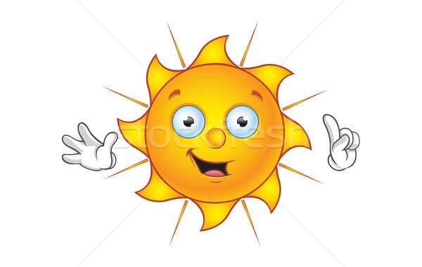 Nap karakter ötlet rajz illusztráció forró Stock fotó © DesignWolf