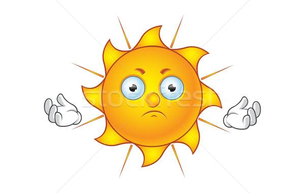 Güneş karakter mutsuz karikatür örnek sıcak Stok fotoğraf © DesignWolf