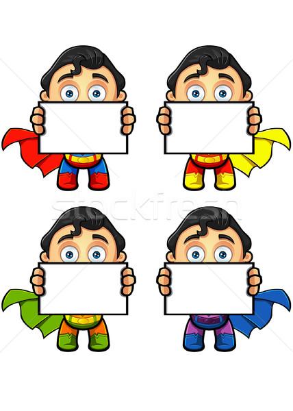 Super homme personnage bord différent Photo stock © DesignWolf