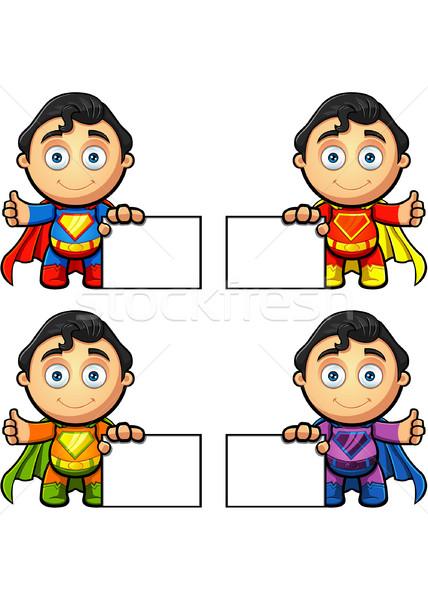 Super homme personnage différent couleurs Photo stock © DesignWolf