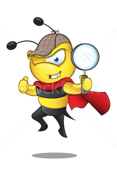 Szuper méh karakter rajz illusztráció aranyos Stock fotó © DesignWolf