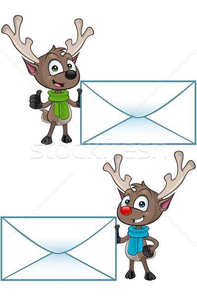 Cartoon rennes personnage illustration cute cerfs Photo stock © DesignWolf
