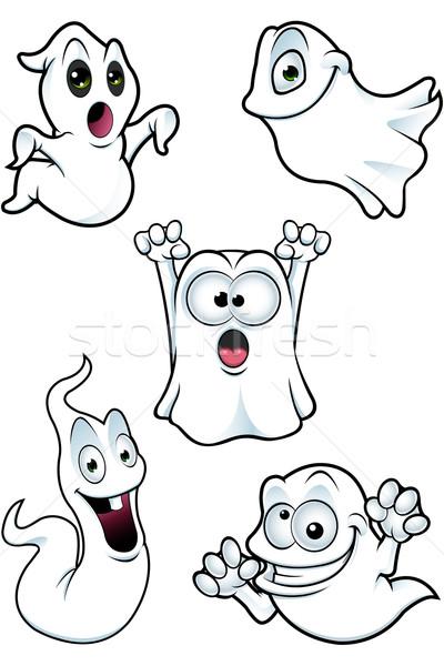 Cartoon fantasma loco Foto stock © DesignWolf