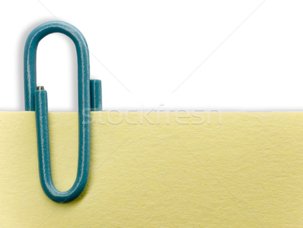 Paperclip on a note Stock photo © devulderj