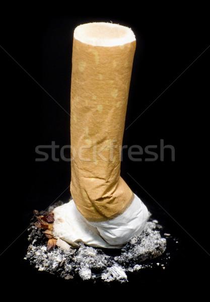 Foto stock: Cigarrillo · negro · insalubre · comportamiento · fuego · medicina