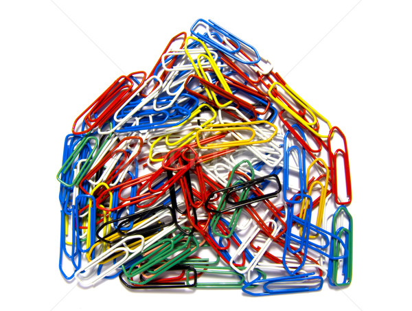 Paperclip House Stock photo © devulderj
