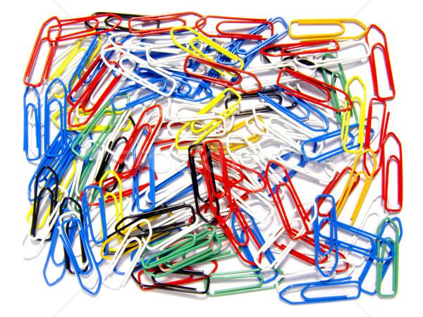 Desorganizado negocios papel fondo verde Foto stock © devulderj