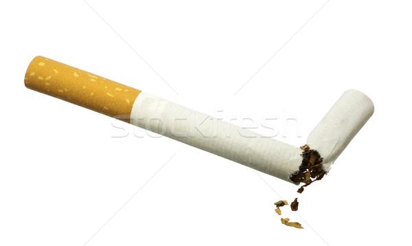 Quit Smoking - Broken cigarette isolated over white Stock photo © devulderj