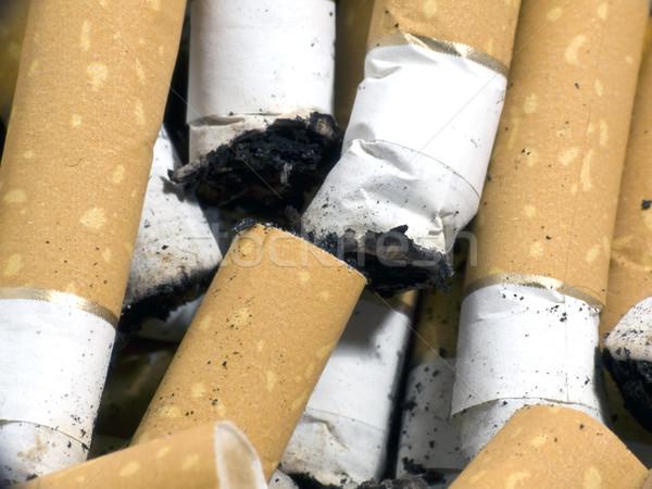Sigara yangın tıp ölüm beyaz Stok fotoğraf © devulderj