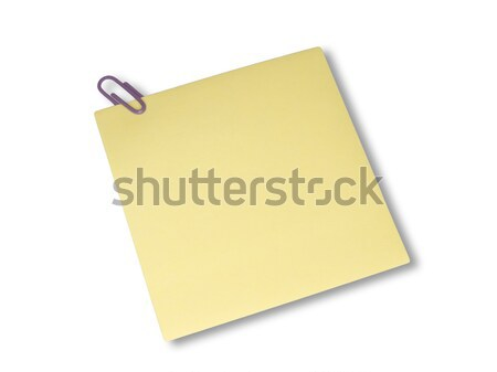 Yellow note Stock photo © devulderj