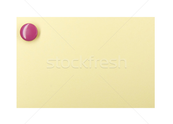Pushpin on a yellow note Stock photo © devulderj