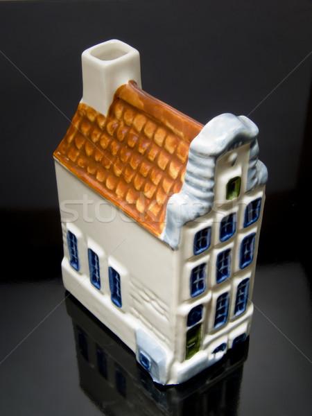 Holandés casa negro reflexión familia casa Foto stock © devulderj