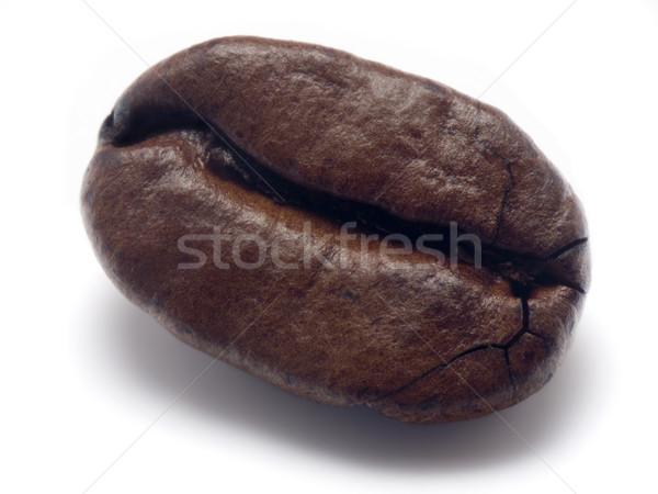 Kávébab közelkép makró bab bab törik Stock fotó © devulderj