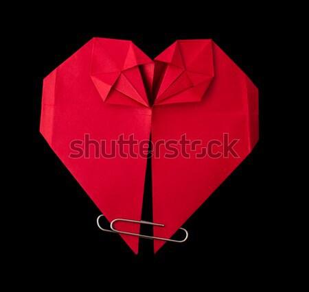 Origami red heart Stock photo © deyangeorgiev