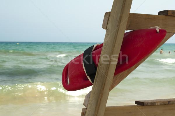Rosso boa bagnino salvare persone cielo Foto d'archivio © deyangeorgiev