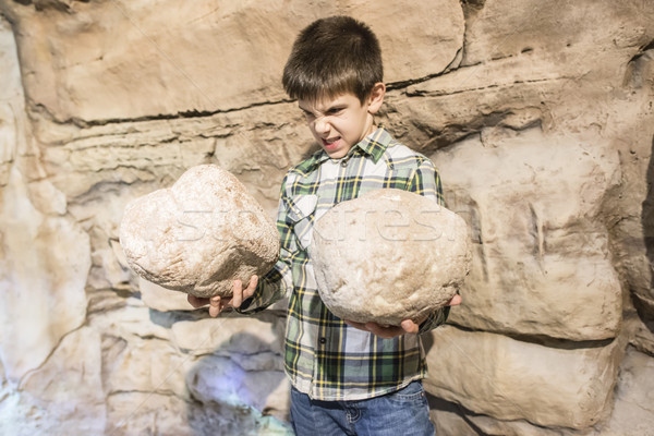 Сток-фото: сильный · ребенка · каменные · камней · детей