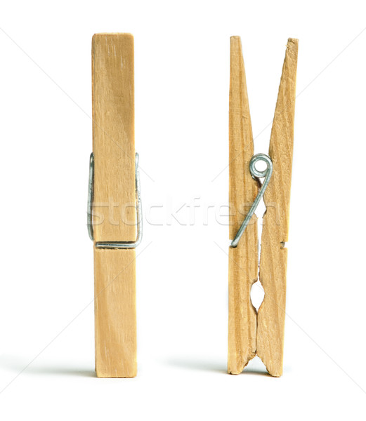 Clothes natural wooden peg Stock photo © deyangeorgiev