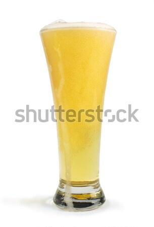 Kupa bira ışık arka plan içmek Stok fotoğraf © deyangeorgiev