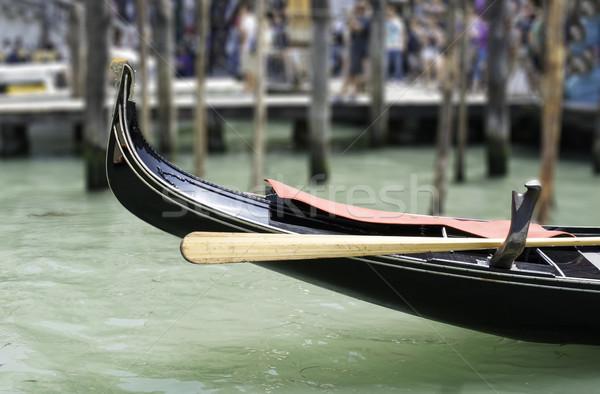 Ancient gondola in Venice Stock photo © deyangeorgiev