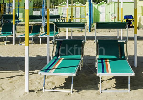 傘 ビーチ 緑 空 水 自然 ストックフォト © deyangeorgiev