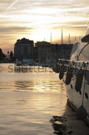 Yachts moored in Cannes Stock photo © deyangeorgiev