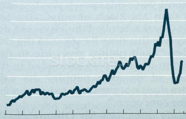 Ciencias económicas gráfico periódico pluma empresarial futuro Foto stock © deyangeorgiev