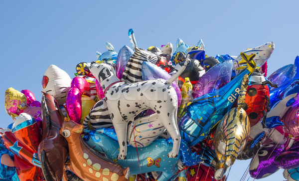 Balloons filled with helium Stock photo © deyangeorgiev