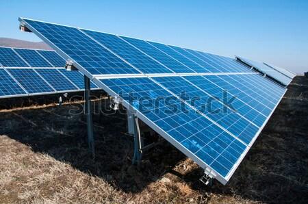 Stockfoto: Zonne · fotovoltaïsche · park · business · technologie · industriële