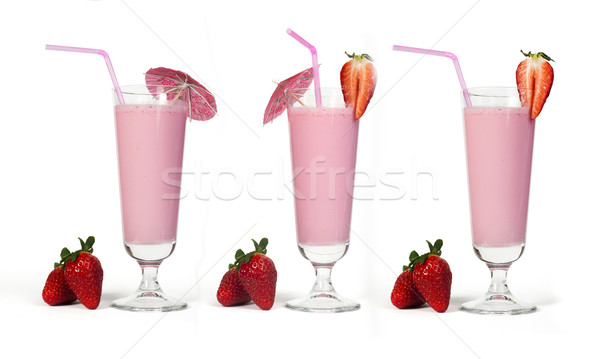 Strawberries milk shake Stock photo © deyangeorgiev