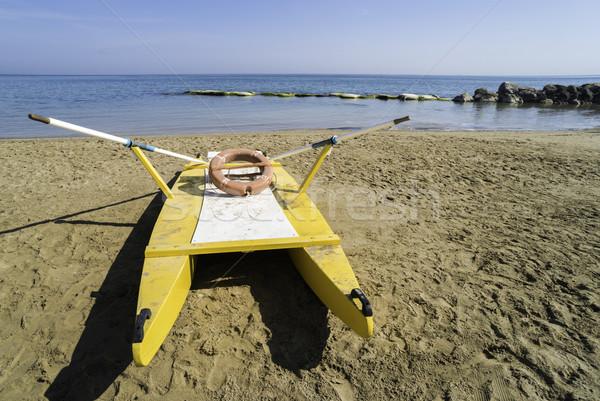 Strand Geel Italiaans hemel zee zomer Stockfoto © deyangeorgiev