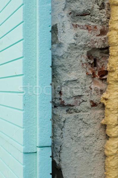 Yalıtım doku duvar çalışmak enerji ses Stok fotoğraf © deyangeorgiev