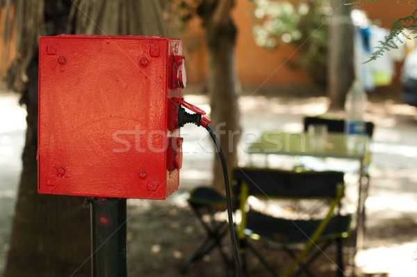Power connection of the camping Stock photo © deyangeorgiev